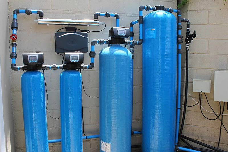 Water treatment corrected low pH and high iron